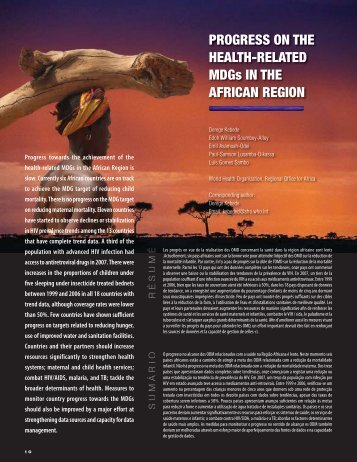 AHM Issue 11 Jan-Mar 2010.indd - Afro - World Health Organization