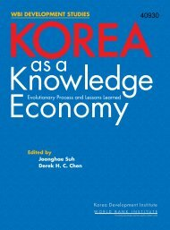 Korea as a Knowledge Economy - ISBN: 9780821372012