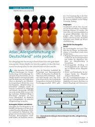 "Atlas ""Allergieforschung in Deutschland"" ante portas - dgaki"
