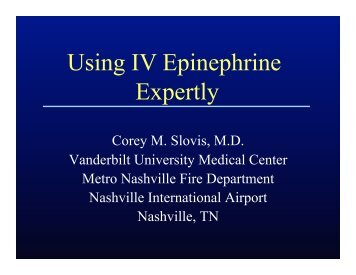 Slovis IV Epinephrine - Gathering of Eagles