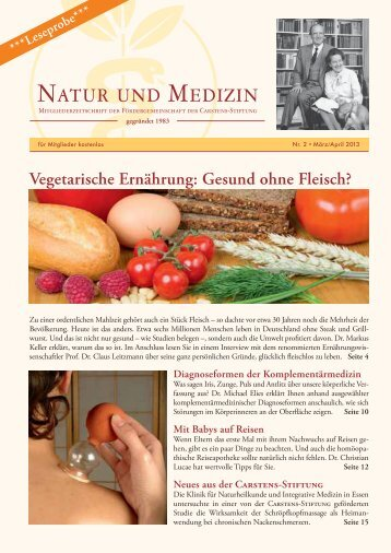 Leseprobe Zeitschrift - Natur und Medizin e.V.
