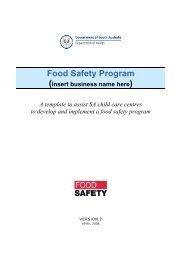 Food Safety Program - SA Health - SA.Gov.au