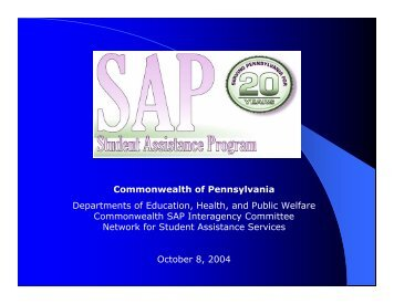 Student Assistance Programs - Center for Schools and Communities