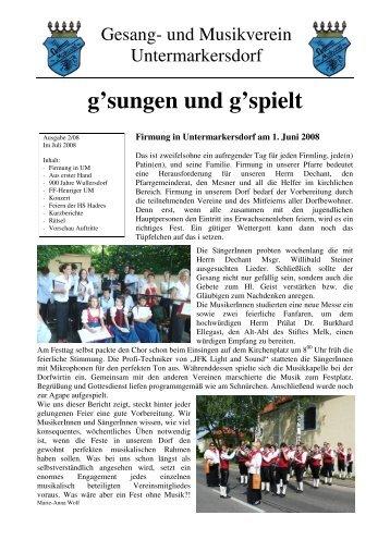 Vereinsnachrichten 2008-02 - GMV Untermarkersdorf