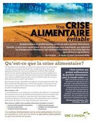 alimentaire crise - USC Canada