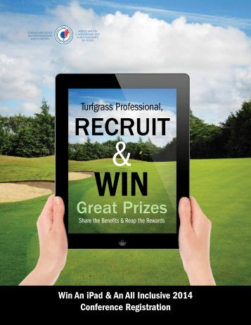 Recruit and Win - Canadian Golf Superintendents Association