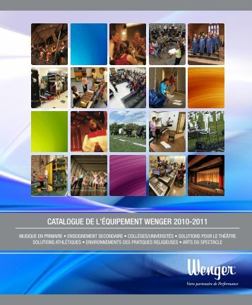 catalogue de l'équipement wenger 2010-2011 - Wenger Corporation