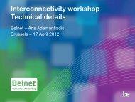 Set-up with Belnet - Belnet - Events
