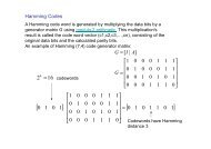 Hamming Codes - diegm