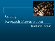 Giving Research Presentations - Robarts Imaging