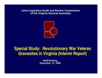 Interim Commission Briefing - Virginia Joint Legislative Audit and ...