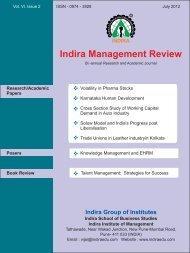 IMR July 2012 - Indira Institutes