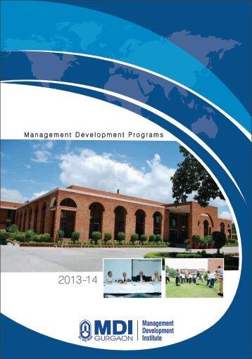 Annual Programme Calendar 2013-14 - Management Development ...