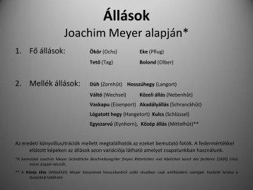 Állások - Joachim Meyer alapján (pdf) - Kard Rendje
