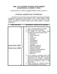 commissioner – amr – apard - Andhra Pradesh Academy of Rural ...