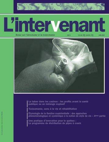 Avril 2004 • IntérieurF - Association des intervenants en toxicomanie ...