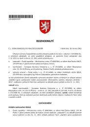 Rozhodnutí úřadu ze dne 18. 6. 2012