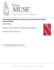 of American Jewish Literary Studies - University of Michigan