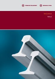 Katalog kolejnic - Třinecké železárny