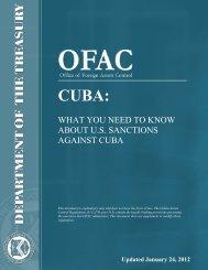 Cuba - Department of the Treasury
