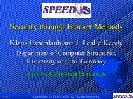 Security through Bracket Methods