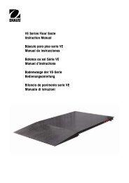 VE Series Floor Scale Instruction Manual Báscula para ... - MaRCo