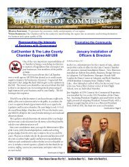 Lake County - Greater Lakeport Chamber of Commerce