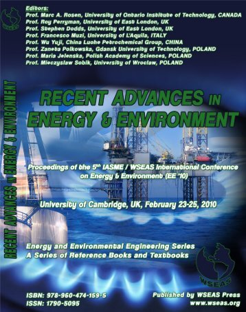 Recent advances in energy - Wseas.us