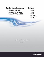 Christie Entero Projector and Cube Installation Manual
