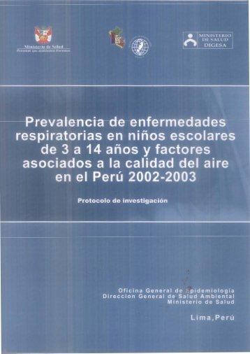 Prevalencia de enfermedades - Bvs.minsa.gob.pe - Ministerio de ...