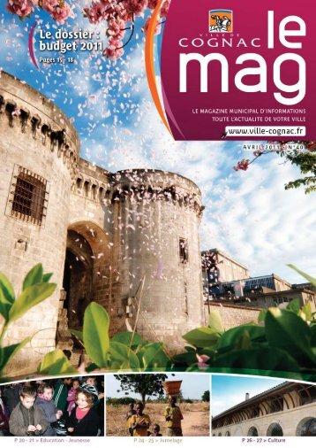 Cognac Mag mars avril 2011 - Ville de Cognac