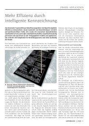 Mehr effizienz durch intelligente Kennzeichnung - Laser Magazin