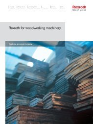 Woodworking Machinery brochure - Boschrexroth.co.uk