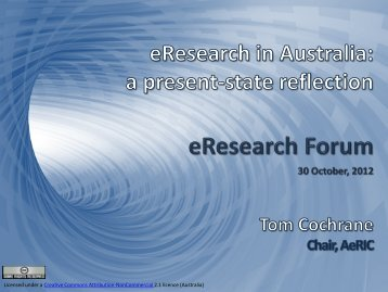 The National eResearch Approach