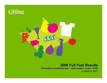 Presentation 2006 - Groupe Casino