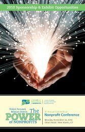 Nonprofit Conference - Connecticut Association of Nonprofits