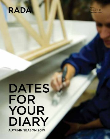 DATES FOR YOUR DIARY - Rada