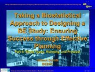 Part II - BEBAC • Consultancy Services for Bioequivalence