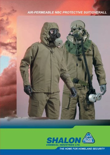 air-permeable nbc protective suit/overall - Shalon Chemical Industries