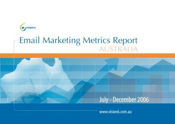 Email Marketing Metrics Report - Vision 6