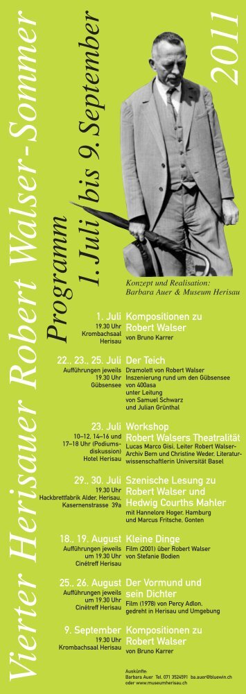 Flyer - Robert Walser-Zentrum