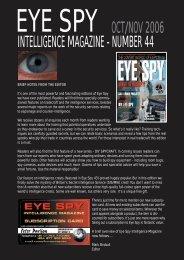 number 44 oct/nov 2006 - Eye Spy Intelligence Magazine