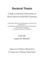 A Study on Electrical Characteristics of Silicon Nanowire Field Effect ...