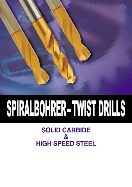 SOLID CARBIDE & HIGH SPEED STEEL - YG-1