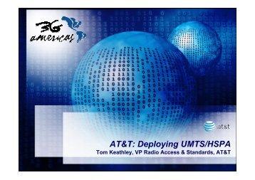 AT&T: Deploying UMTS/HSPA