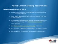 Adobe Connect Meeting Requirements