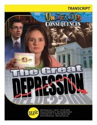 Unintended Consequences: The Great Depression - Izzit.org