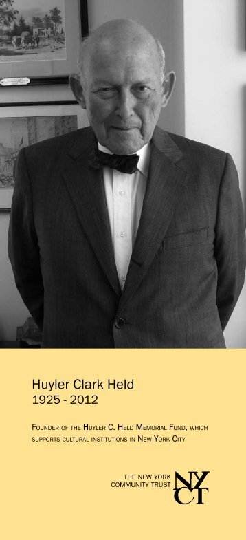 Huyler Clark Held - The New York Community Trust
