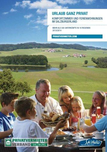 Der Katalog 2013 - Urlaub in Salzburg