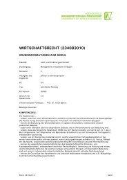 WIRTSCHAFTSRECHT (234083010) - Module.Online - Login